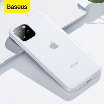 Baseus Fully-Covered Silicone Protection Phone Case Shockproof For iPhone 11 Pro XR Xs Max 0.8mm Thin Soft Phone Case Back Cover