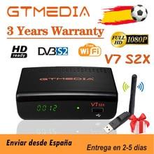 Melhor 1080p gtmedia v7 s2x fta receptor de satélite DVB-s2 completo hd bulit-em wifi gtmedia v7s2x e usb wi-fi freesat v7 s2x nenhum aplicativo
