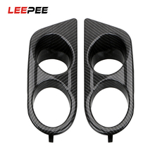 LEEPEE 1 Pair Front Bumper Plastic Car Fog Light Covers  Dual Hole For BMW E46 M3 2001 2006 Surround Air Duct  Car styling
