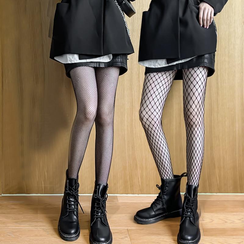 Ажурные колготки, чулки, черные колготки, летние ультратонкие женские нейлоновые эластичные узкие колготки для девушек, модные носки в сеточку|Колготки|   | АлиЭкспресс