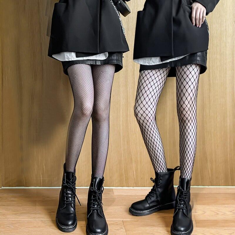 Fishnet pantyhose stockings Black Tights Summer ultra-thin sexy ladies women girls Nylon Elastic Skinny legs Fish Net fashion