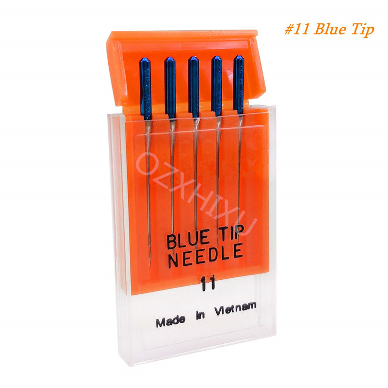 5pcs Steel Blue Tip Needle Size 11 for Janome Sewing Machine
