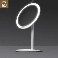 Youpin amiro hd ミラー日光化粧品 led ミラーランプ調光可能なアジャスタブルカウンター 60 度回転 2000 mah