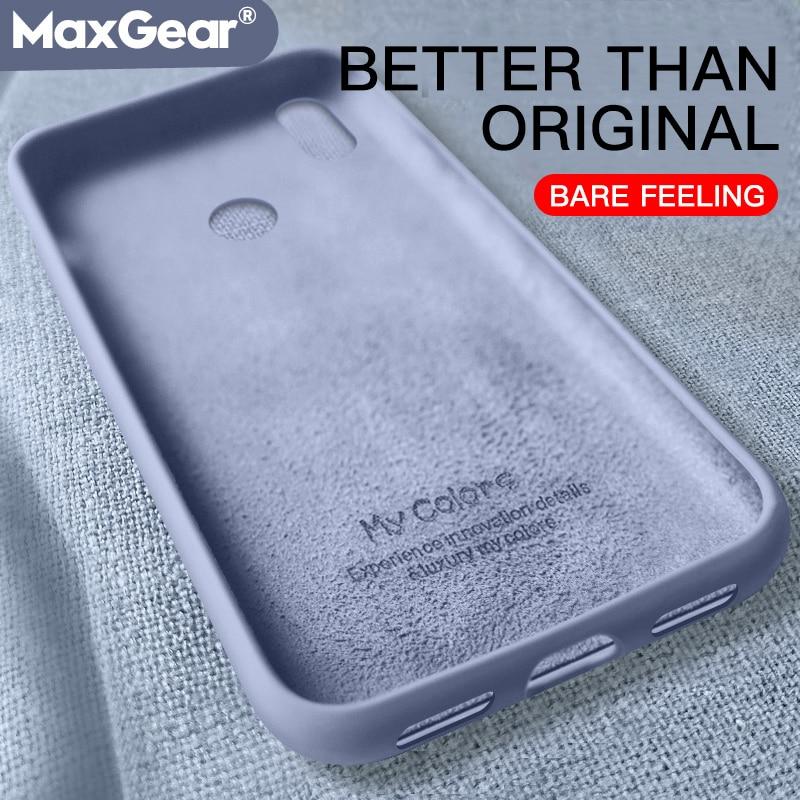 Liquid Silicone Original Case For Xiaomi Mi 9 SE 8 Lite A2 9T Mi9 MIX 2 2S Play Mi9T Redmi Note 7 6 K20 Pro 7A 6A CC9 Soft Cover(China)