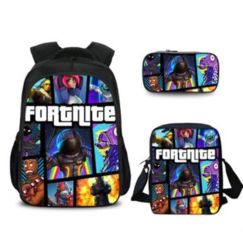 Fortnite Toys Shoulder Cartoon Backpack Kit Purse Fortnite Cartoon Student Bag 3D Printing Offload Backpack Toys