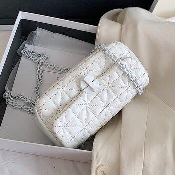 Embroidery Thread Chain PU Leather Crossbody Bags For Women 2020 Fashion Shoulder Handbags Female Travel Cross Body Bag