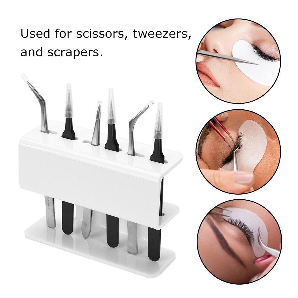 Tweezer Holder Eyelash Extension Tweezer Stand Acrylic Tweezers Shelf Holder Storage Rack For Tweezer Tool Accessories