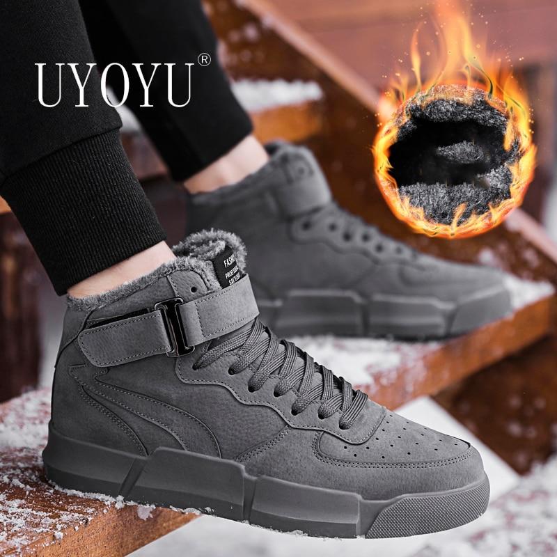 Зима 2020, теплые меховые мужские зимние ботинки, боевые ботильоны особой силы с плюшевой подкладкой, Рабочая обувь, высококачественные мужские уличные кроссовки|Ботинки| | АлиЭкспресс