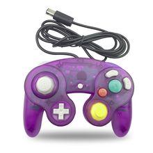 Wired Controller עבור Nintendo Wii Gamecube GC נקודה אחת משחק רטט ידית