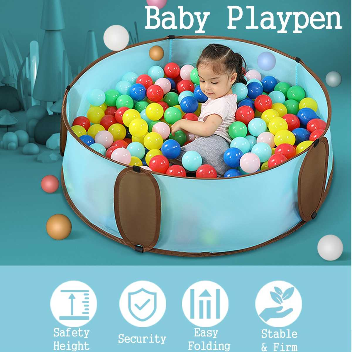 Safe Infants Playpen For Baby Fence Game Arena Indoor Ocean Balls Pool Ocean With 100pcs Ball Safe Play Mat For Kids Children
