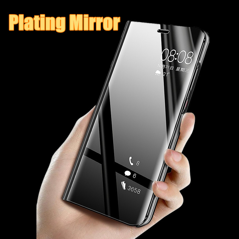 Luxury Smart <font><b>Mirror</b></font> <font><b>Flip</b></font> Phone <font><b>Case</b></font> For <font><b>Samsung</b></font> Galaxy Note 10 9 8 Pro <font><b>S10</b></font> S9 S8 Plus M20 M30 A10 A20 A30 A50 A60 A70 <font><b>Case</b></font> Cover image