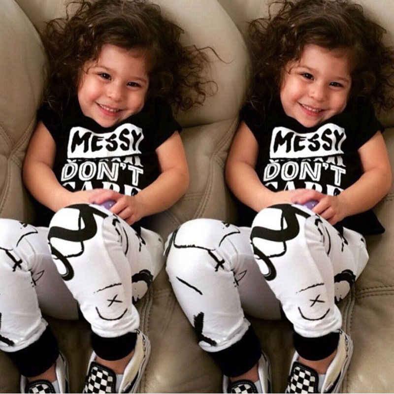 ฤดูร้อนเด็กเสื้อยืดสำหรับสาวสีขาวสีดำ 2 3 4 5 ปีชุดวันเกิดเด็ก Tees เสื้อเสื้อเด็กเสื้อผ้า