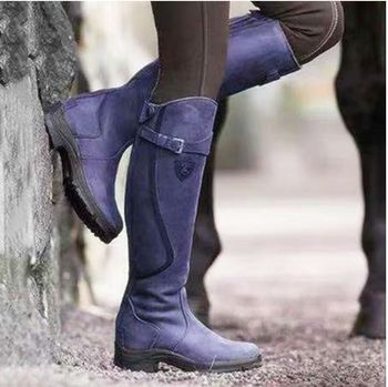 Women's Leather Horse Riding Boots 1