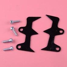LETAOSK Black Stainless Steel Felling Dog Bumper Spike 530014381 Fit for Husqvarna 240 240E 235 235E Chainsaw