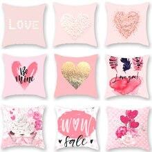Розовый персик сердце полиэстер пледы наволочка любовь письмо