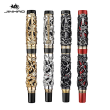 Luxury Vintage Dragon Ballpoint Pen High Quality Metal Jinhao Pen Office Supplies Stationery Caneta Gift