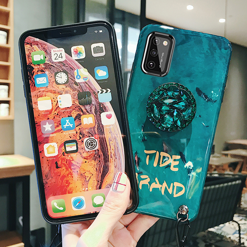 For Samsung Galaxy A91 A81 A71 A51 Emerald Live Wallpaper Lanyard Back Case For Samsung Galaxy A41 A21 A11 A01 Stand Cover Fitted Cases Aliexpress