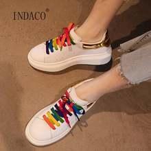 Женские демисезонные кроссовки разноцветные кожаные для девочек