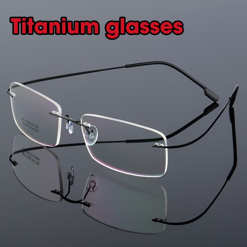 Titanium Alloy Rimless Glasses Women Men Flexible Elastic Optical Frame Prescription Frameless Clear Gafas Oculos Eyeglasses