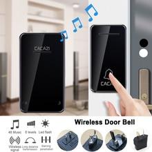 Self-powered Waterproof Wireless Doorbell No Battery LED Light 200M Home Cordles