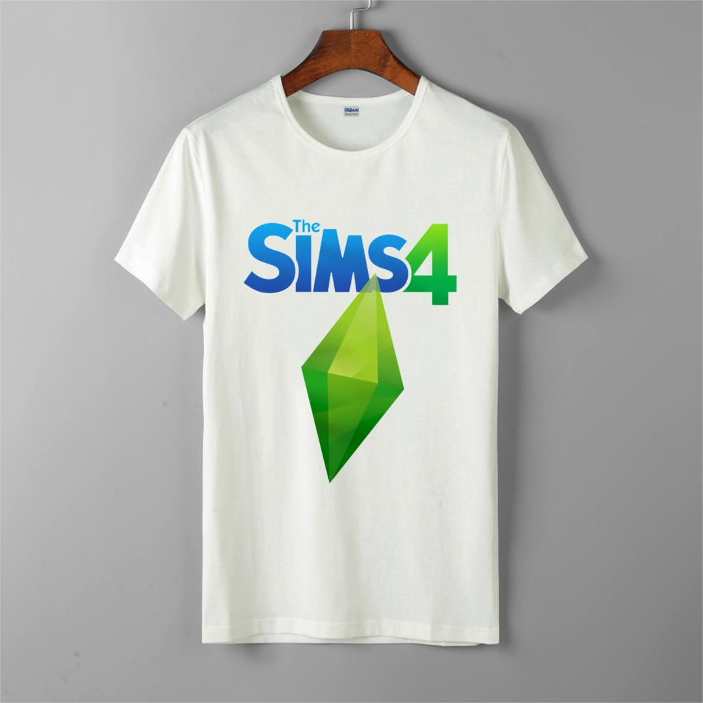 The Sims 4-game-o-neck-casual-t-shirts-short-sleeve-for-men-women-t-shirt