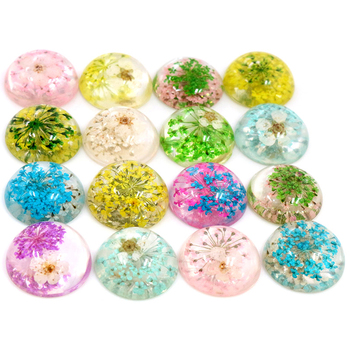 New Fashion 10pcs Fit 20mm Blue White Yellow Green Pink Purple Natural Dried Chrysanthemum Flowers Cabochons Cameo cute pill style correction tapes green blue deep pink purple yellow 5 pcs