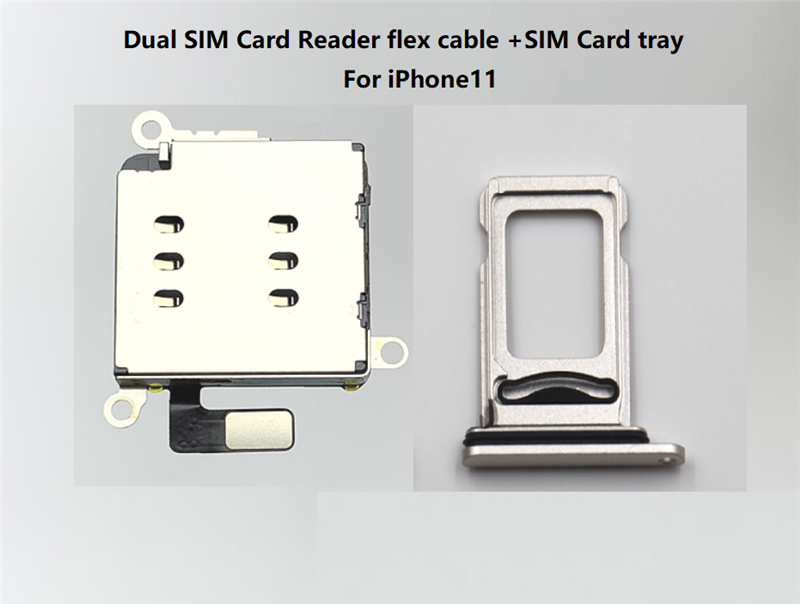 20sets Lot For Iphone 11 Dual Sim Card Reader Flex Cable Sim Card Tray Holder Slot Adapter Replacement Sim Card Adapters Aliexpress