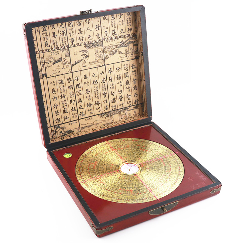 Compass feng shui plate high precision old name Luo Guoyuan 8 inch pure copper panel authentic product gossip comprehensive disk