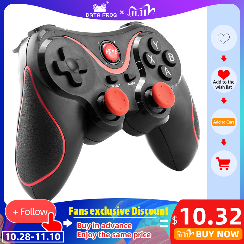 DATA FROG Wireless Android Gamepad Game Controller For PC For PS3 Bluetooth Gaming Joystick For Android Phone  For iphone Phone