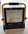 10 шт. водонепроницаемый IP66 50 Вт 100 Вт светодиодный Солнечный сад встроенный прожектор заливающего света перезаряжаемый портативный светоди...