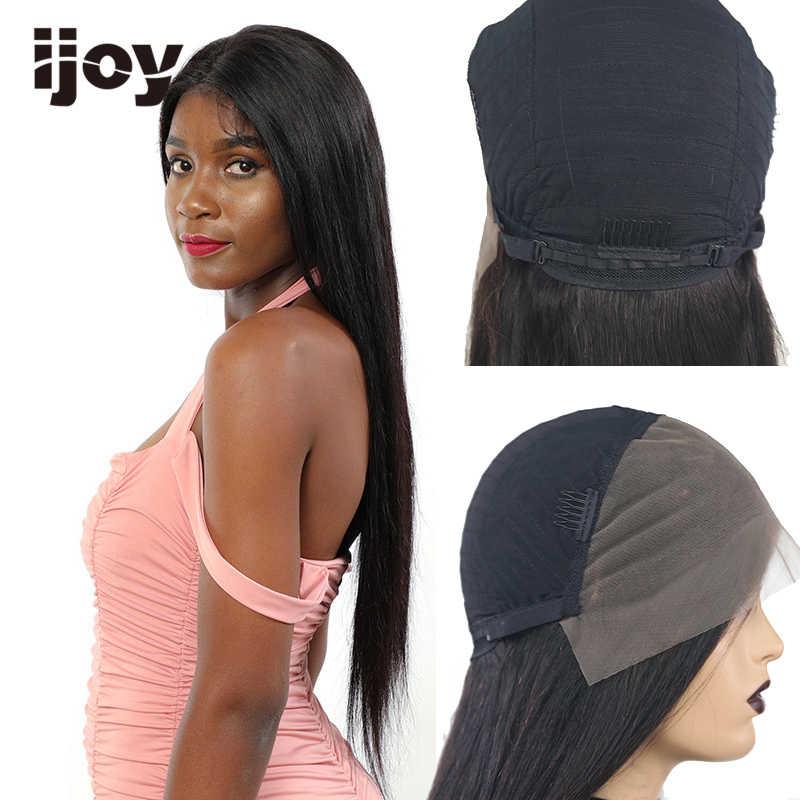 13*6 brasileño del pelo recto del pelo humano peluca con malla frontal Natural HD transparente encaje peluca Bob 30 pulgadas de 150% no-Remy Pre-arrancado IJOY
