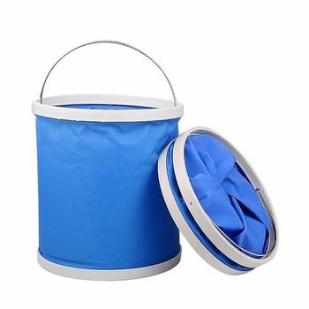 Folding Bucket car travel fishing large portable retractable washing bucket brush compression