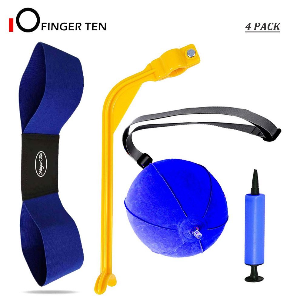 4 Pc/Set Golf Swing Training Aid Arm Band Trainer Impact Ball Inflator Posture Motion Correction For Beginner Practice