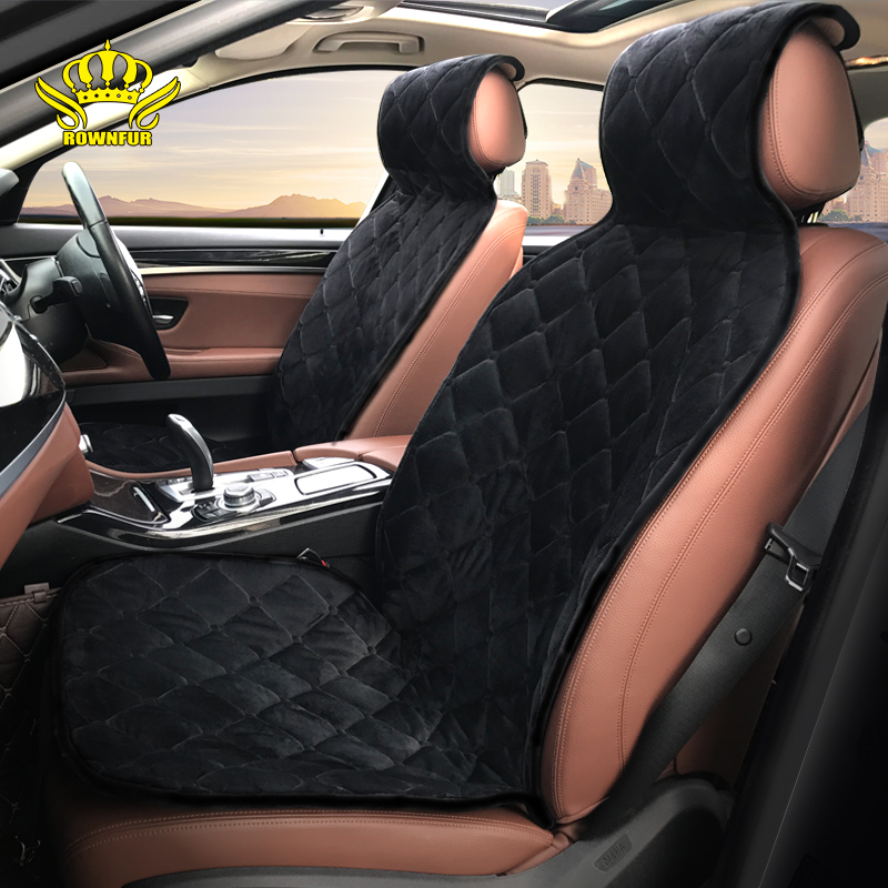 ROWNFUR Car Seat Cover For All Car Seat Protector Interior Accessories Flocking Cloth Four Seasons Car Styling Auto Seat Cushion