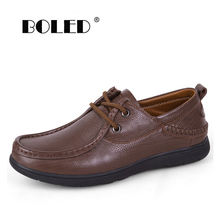 Мужские повседневные туфли из натуральной кожи модная дизайнерская