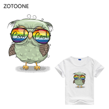 ZOTOONE New Personality Owl Patches Print on T-shirt Dresses Jeans Bags A-level Washable Iron Heat Press Appliqued E