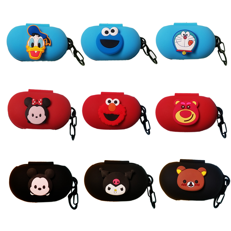 Cartoon Cute Soft Silicon Cover For Samsung Galaxy Buds 2019 Case Charging Sleeve Wireless Headphone Earphone Protective Skin
