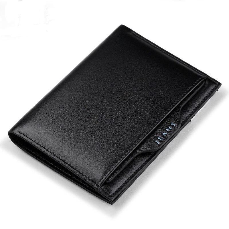 Ультратонкий кожаный кошелек для мужчин, модный многофункциональный вместительный кожаный чехол со съемной пряжкой Для водительских прав Кошельки      АлиЭкспресс