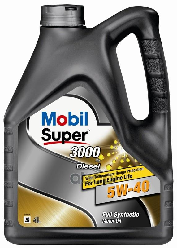 Масло моторное Mobil SUPER 3000 X1 Diesel SAE 5W-40 ACEA А3/B4 - 4л MOBIL арт. 152572