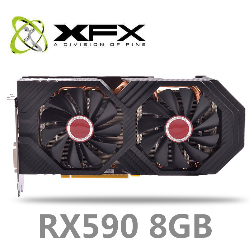 NEW XFX RX 590 8GB 256bit GDDR5 8000Mhz 2304 1580MHz OC1600MHz desktop pc gaming graphics cards video card RX590 GDDR5 image