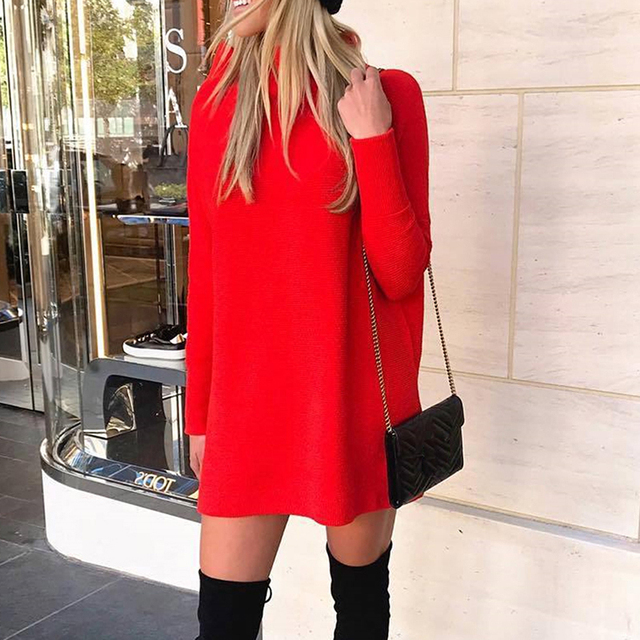 2020 Autumn Sweatshirt Dress Women Warm Winter Dress Women Long Sleeve Casual Loose Dress Ladies Female Vestidos Black 6