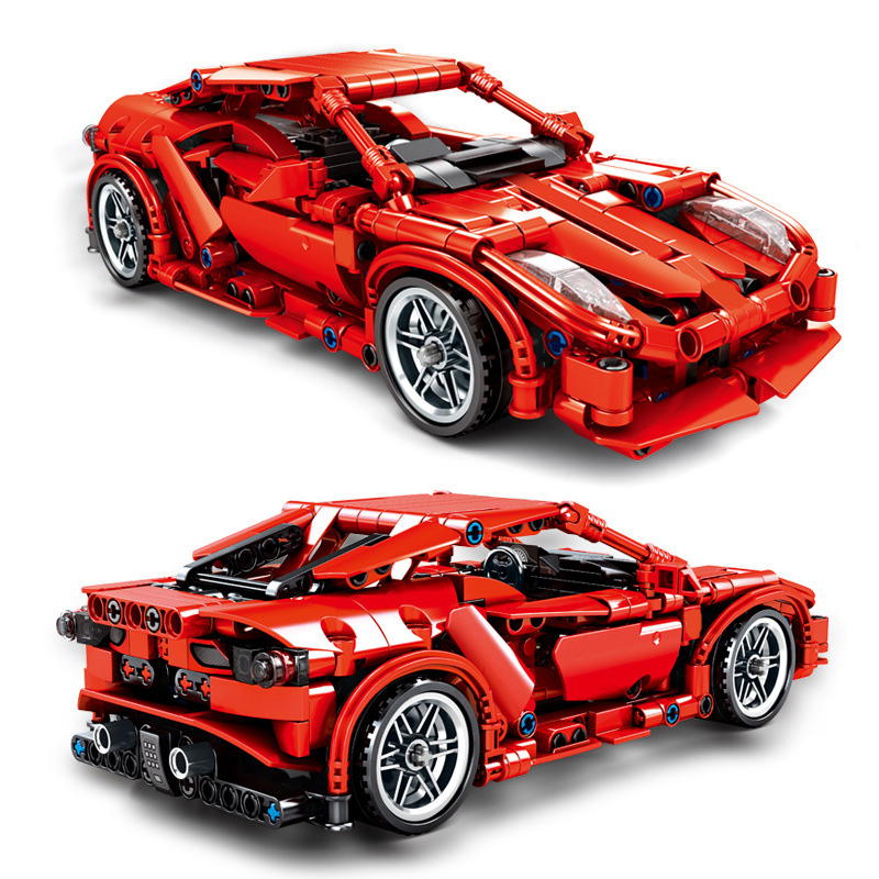 SLPF Toys For Children Porsche Sports Car Model Kids Educational Assembled Building Block Brick Toy Gift Compatible Legoing I61