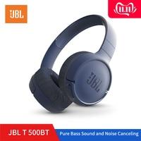 JBL T500BT Wireless Bluetooth Headphones Flat foldable on Ear Headset with Mic Noise Canceling Earphone Call & Music Controls