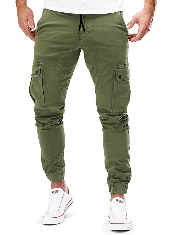 Fashion Woven Tooling Trousers Man New Simple Wild M-3XL Tooling Multi-Pocket Trousers Male's Autumn Casual Boy Cool Bottoms