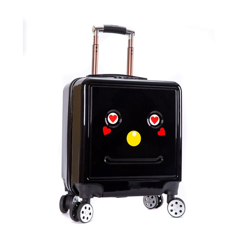 HOT 18 inch Cute Cartoon students trolley case child 3D Travel luggage kids rolling suitcase fashion Wheels boy Boarding box