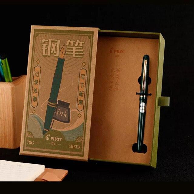 مجموعة أقلام الطيار قلم حبر 78G + الأصلي Lridium قلم هدية صندوق مدرسة الممارسة الخط EF/ F/ M Nib Con40 محول 1 قطعة