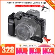 Gabbia per fotocamera DSLR per gabbia Canon EOS M50 / M5 con attacco per slitta calda per attacco a sgancio rapido per videoregistratore VS SmallRig