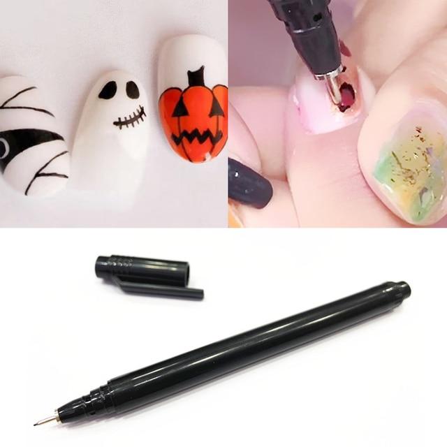 1PC Nail Art Graffiti Pen Waterproof Painting Drawing Liner Brush DIY Flower Pattern Fine Details Manicure Tools 2
