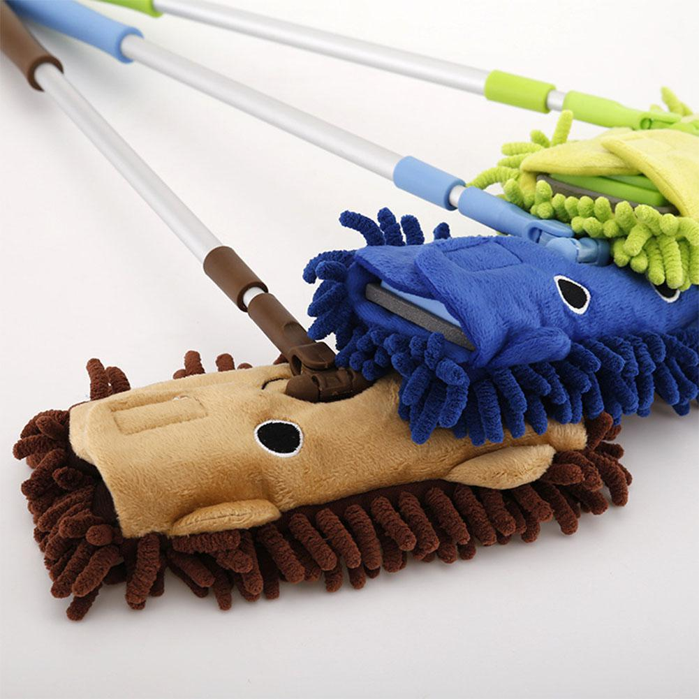 Kids Stretchable Floor Cleaning Tools Mop Broom Dustpan Play-house Toys Gift