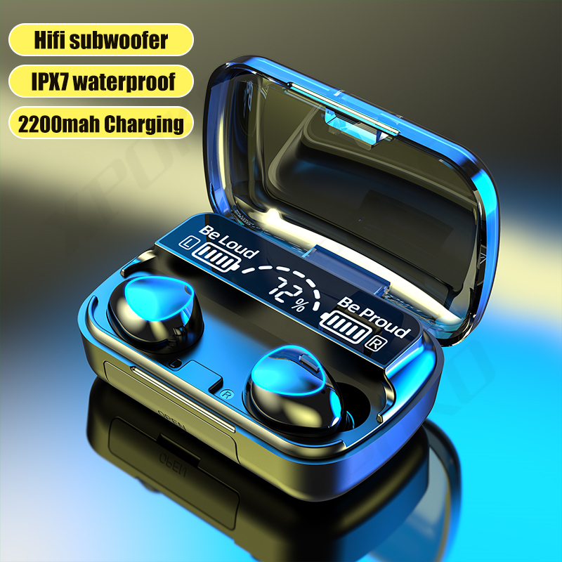 TWS Bluetooth 5.1 Earphones 2000mAh Charging Box Wireless Headphone 9D Stereo Sports Waterproof Earbuds Headsets With Microphone